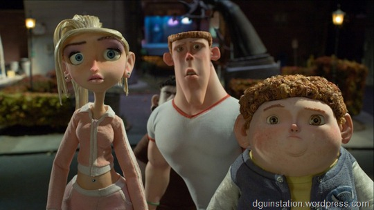 (l ro r.) Courtney, Mitch and Neil investigate stange doings in ParaNorman, the new 3D stop-motion comedy thriller from LAIKA and Focus Features, directed by Sam Fell and Chris Butler.  Credit:  LAIKA, Inc.